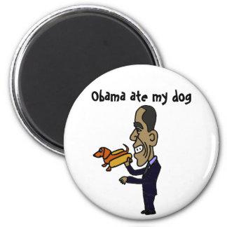 El BA Obama comió mi perro Imán Redondo 5 Cm