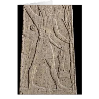 El Baal de tormenta-dios con un rayo Tarjeta De Felicitación