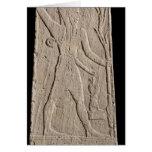 El Baal de tormenta-dios con un rayo Tarjetón