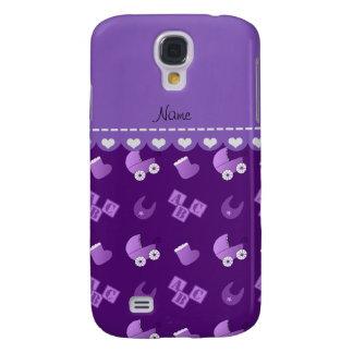 El babero púrpura conocido del bebé bloquea funda para galaxy s4