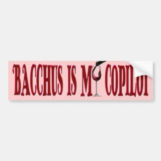 El Bacchus es mi copiloto Pegatina De Parachoque