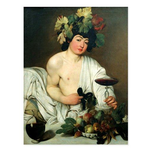 El Bacchus joven, Caravaggio Postal