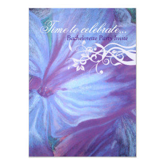 """El bachelorette floral de las lilas azules invitación 4.5"""" x 6.25"""""""