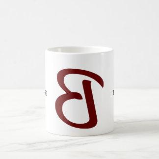 El Backword reserva la taza B rojo