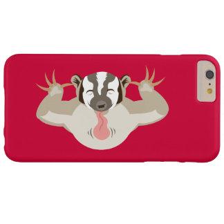 El Badger_classic_red que acosa Funda De iPhone 6 Plus Barely There