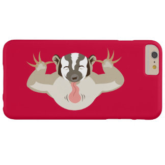 El Badger_classic_red que acosa Funda Para iPhone 6 Plus Barely There