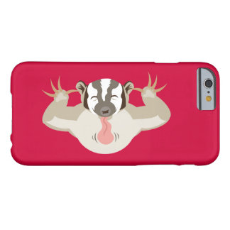 El Badger_red que acosa Funda De iPhone 6 Barely There