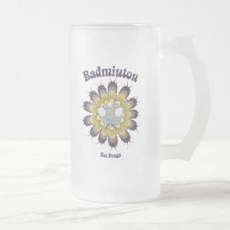 El bádminton no droga la flor tazas