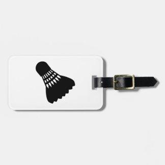 El bádminton se divierte el shuttlecock etiquetas maleta