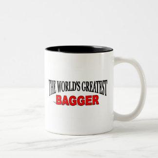 El Bagger más grande del mundo Taza De Dos Tonos