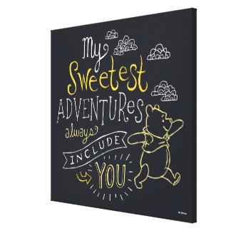 El bah | mis aventuras más dulces impresión en lienzo estirada