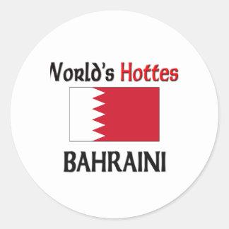 El bahreiní más caliente del mundo etiqueta redonda