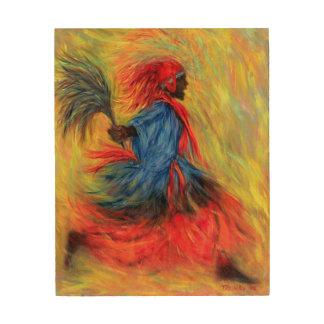 El bailarín 1998 impresión en madera