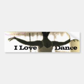 El bailarín, amo   danza pegatina para auto