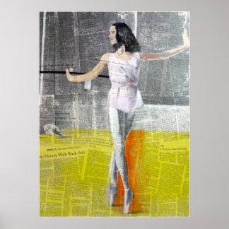 El bailarín arriba póster