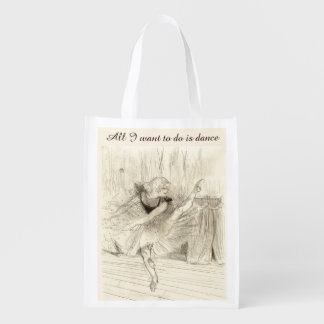 El bailarín de ballet, bolso de Toulouse-Lautrec Bolsa Para La Compra