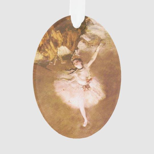 El bailarín de ballet desgasifica la pintura impre