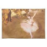 El bailarín de ballet desgasifica la pintura mantel individual