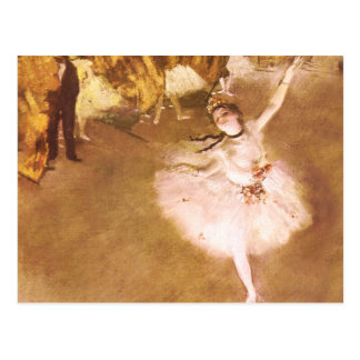 El bailarín de ballet desgasifica la pintura postal