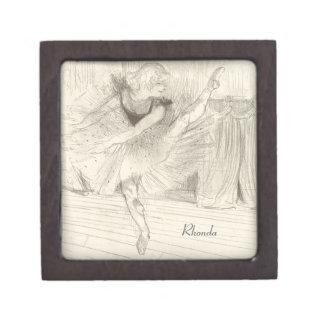 El bailarín de ballet, Toulouse-Lautrec Cajas De Joyas De Calidad