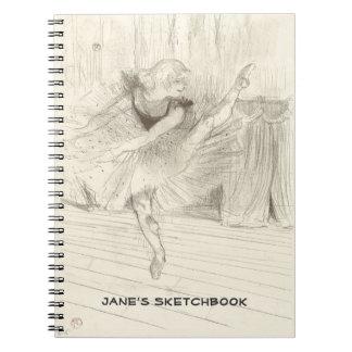 El bailarín de ballet, Toulouse-Lautrec Libro De Apuntes