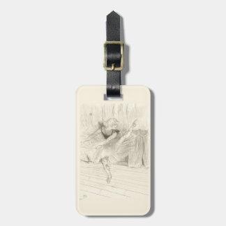 El bailarín de ballet, Toulouse-Lautrec Etiqueta Para Maleta