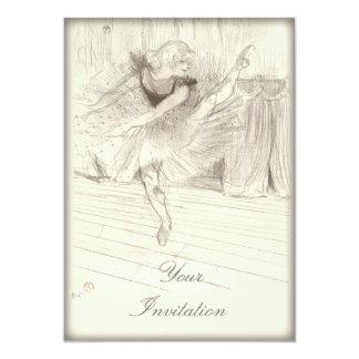 """El bailarín de ballet, Toulouse-Lautrec Invitación 5"""" X 7"""""""