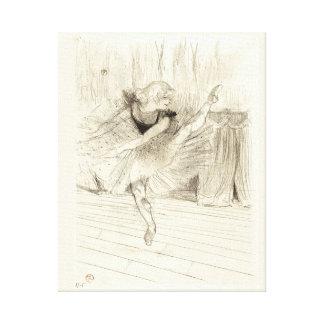 El bailarín de ballet, Toulouse-Lautrec Impresión En Lona Estirada