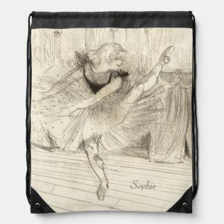 El bailarín de ballet Toulouse-Lautrec Mochilas