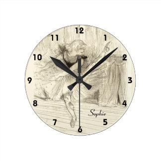 El bailarín de ballet, Toulouse-Lautrec Reloj Redondo Mediano