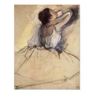 """El bailarín de Edgar Degas, arte de la bailarina Invitación 4.25"""" X 5.5"""""""