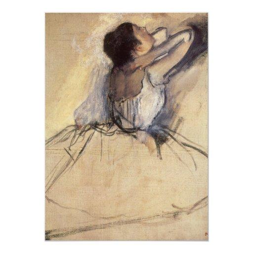 """El bailarín de Edgar Degas, arte de la bailarina Invitación 5"""" X 7"""""""