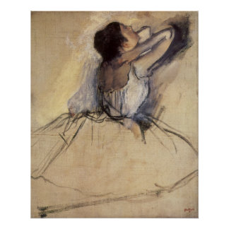 El bailarín de Edgar Degas, arte de la bailarina Póster