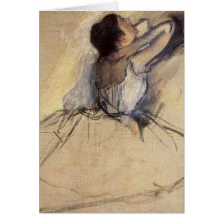 El bailarín de Edgar Degas, arte de la bailarina Tarjeta De Felicitación