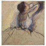 El bailarín de Edgar Degas, arte del ballet del Servilletas De Papel
