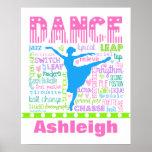 El bailarín en colores pastel personalizado póster