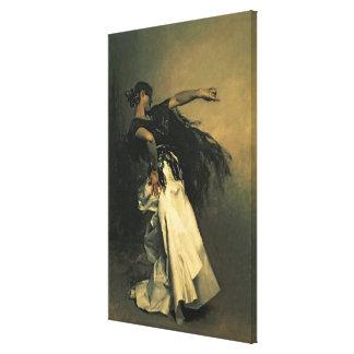 """El bailarín español, estudio para el """"EL Jaleo"""", 1 Impresión En Tela"""