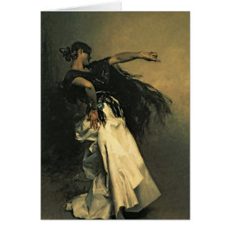 """El bailarín español, estudio para el """"EL Jaleo"""", 1 Tarjeta De Felicitación"""