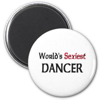 El bailarín más atractivo del mundo imán redondo 5 cm