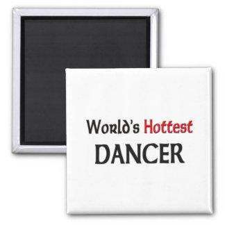 El bailarín más caliente de los mundos imán cuadrado