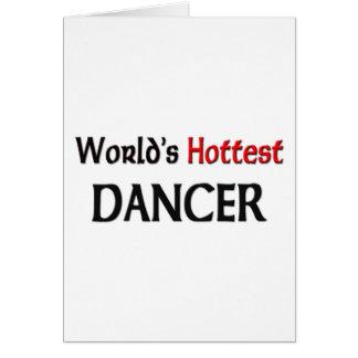 El bailarín más caliente de los mundos tarjeta de felicitación