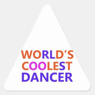 el bailarín más fresco pegatina triangular