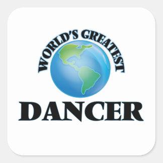 El bailarín más grande del mundo pegatina cuadrada