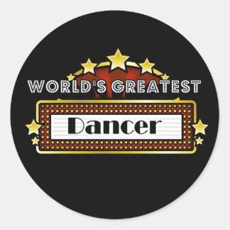 El bailarín más grande del mundo pegatina redonda