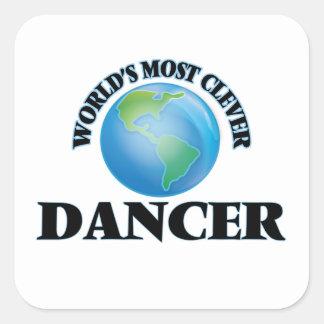 El bailarín más listo del mundo pegatina cuadrada