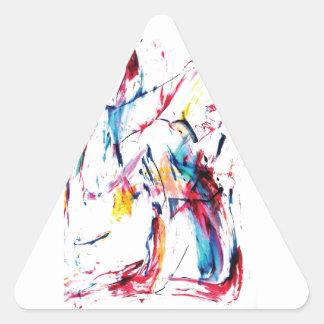 El bailarín pegatina triangular