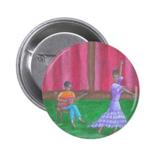 El bailarín pin redondo de 2 pulgadas