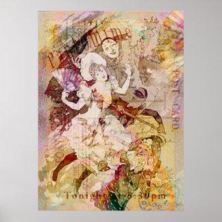 El bailarín y la impresión de Pierrot Poster