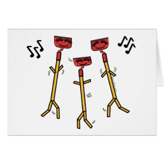 El baile azadona la tarjeta