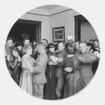 El baile como él es 1910 pegatina redonda